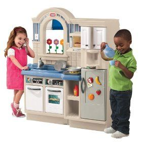 Educational Toys And Little Tikes Inside Outside Kitchen This Unique Two Sided Toy With Realistic Styling Cooking Sounds Has An