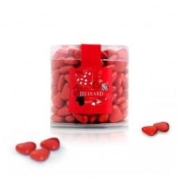 Romance, Anniversary  Valentine : Valentine - Heart shaped chocolates clear box
