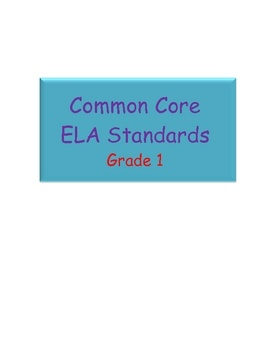 Quick reference to the Common Core Standards in ELA for Grade One. Perfect for plan books!...: Common Cores Standards, Common Core Standards, Grade 1, She Standards, Common Colors It, Cores Stuff, Grade Literacy, Common Core It, Curriculum Cores