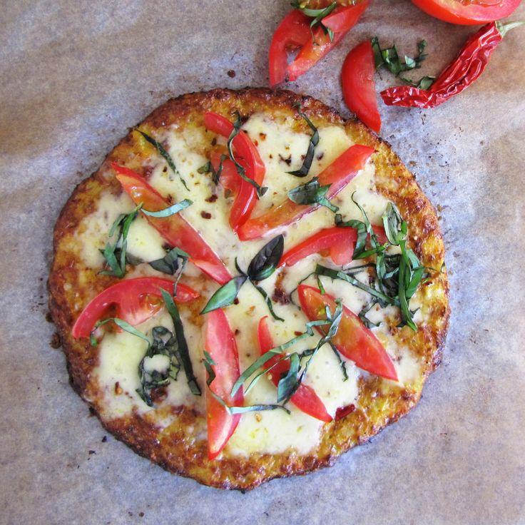Low-calorie Cauliflower crust Pizza, 5:2 diet recipe