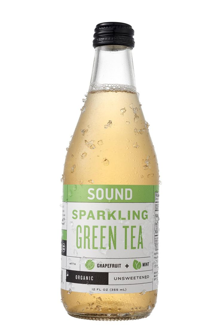 SOUND Sparkling Organic Green Tea with Grapefruit and Mint 12 Ounce, 12 Count