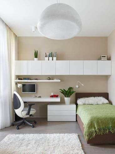 Decoração de quarto de solteiro moderno