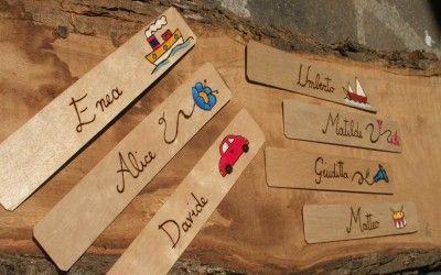 segnalibri in legno personalizzati!