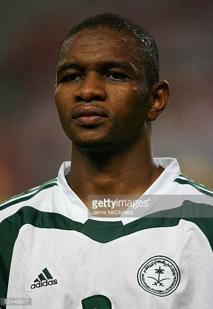 A portrait of Redha Fallatah of Saudi Arabia prior to during the 2006 FIFA World Cup Asian qualifying match between South Korea and Saudi Arabia at...