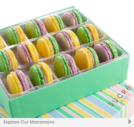 Mardi Gras macarons by Sucre, New Orleans, AlliedPRA New Orleans