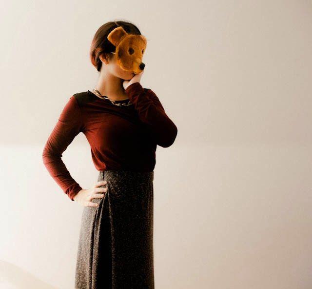 New look 100% MADE IN TURKEY by MAVI Maxi skirt + burgundy top