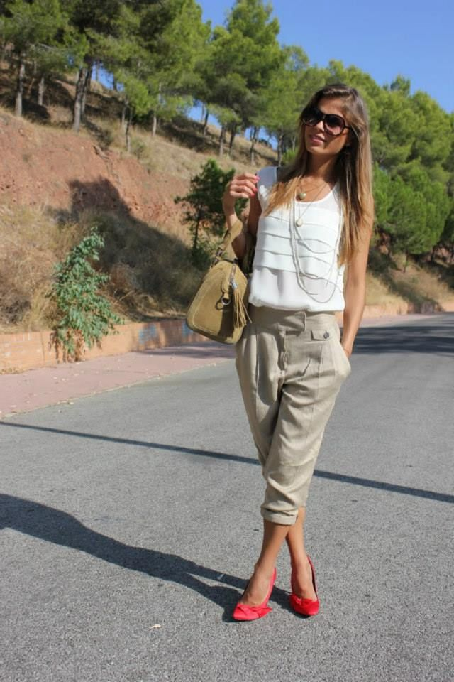 perfect business casual summer look- it's those pants again!
