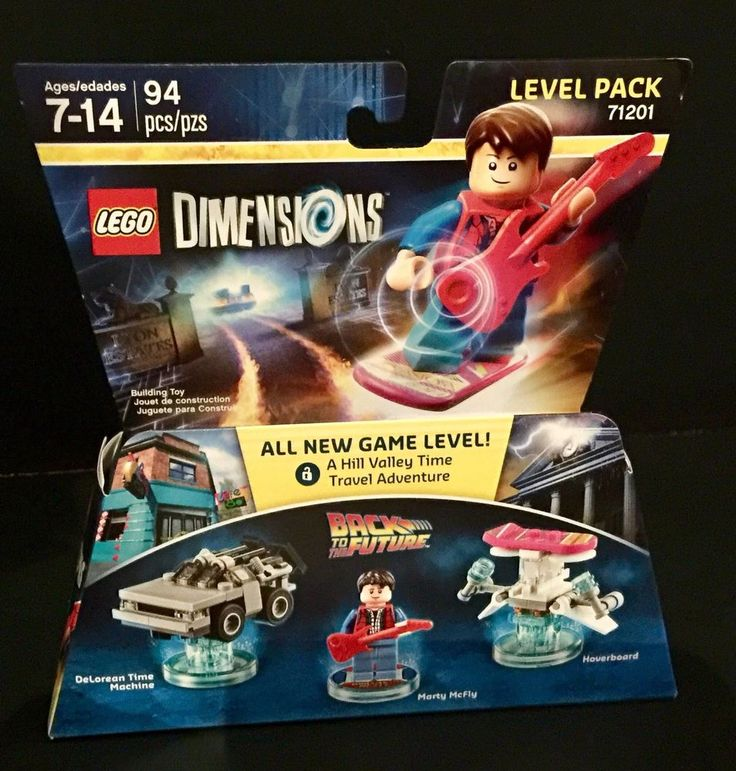 With Marty McFly & Delorean Time machine & Hoverboard. video game enthusiast for the video game Lego Dimensions. Back To The Future. I LOVE GOOD STUFF! New Factory Sealed in Box. | eBay!