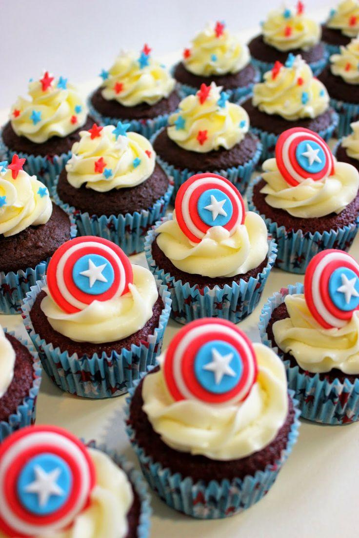"""Supercupcakes para el estreno de la película """"Capitán América"""""""