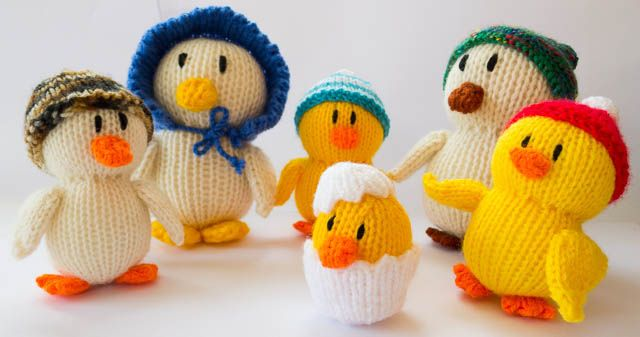 Knitted duck family | par crafty Kath