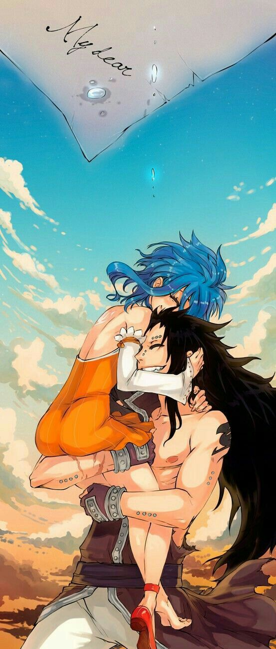 Gajeel, Levy, couple, smiling, my dear, letter, sad, crying, tears; Fairy Tail