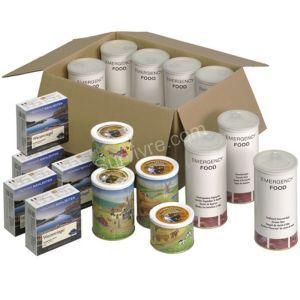 Pack rations de survie 30 jours de nourriture pour urgences et stock - Survivre.com 289€