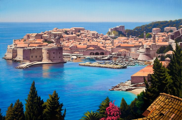"Dubrovnik!!!! :-) Painted by Davor Zilic ""Dubrovnik"" ulje na platnu, 60x90cm, 2013 oil on linen, ""24x36"", 2013."
