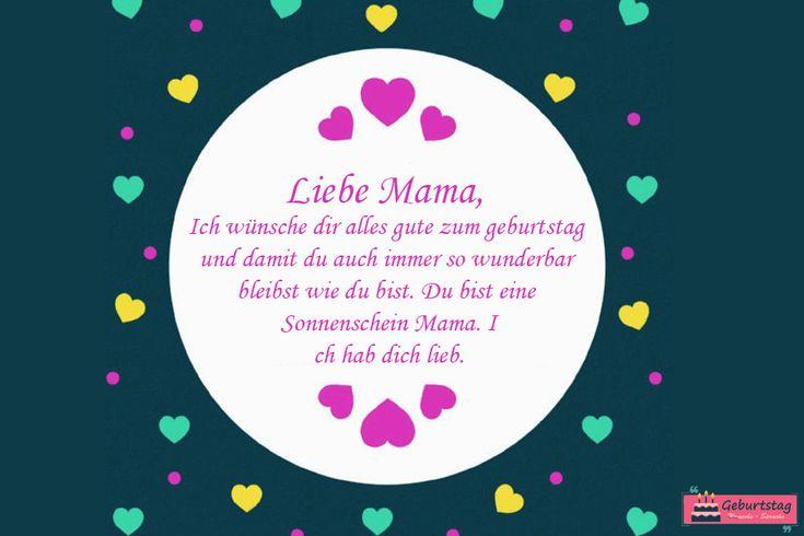 Schoner Geburtstagswunsche Fur Mama Inspirational