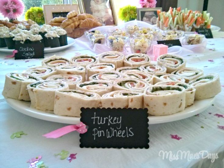 Turkey Pinwheels, Baby Shower on a Budget!