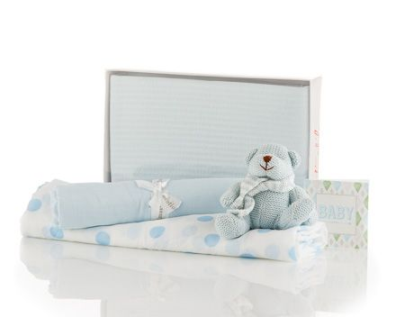 Another classic baby gift - Baby Wrap Kit (Boy). The It Kit