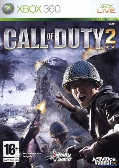 """Call of Duty 2 La secuela del """"Juego del Año"""" de 2003 de Infinity Ward, Call of Duty 2 retrata como ningún otro juego el caos y la intensidad cinematográfica a través de los ojos de soldados rasos combatiendo mano a mano en conflictos épicos de la Segunda Guerra Mundial."""