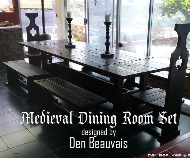 Medieval dining room table