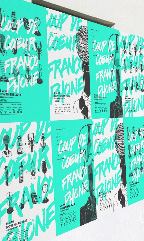 Poster design online - The Design For The 2014 Music Festival Coup De C Ur Francophone Created At Akufen
