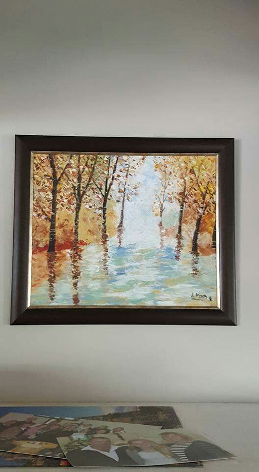 Painting in a acrylic by Leigh