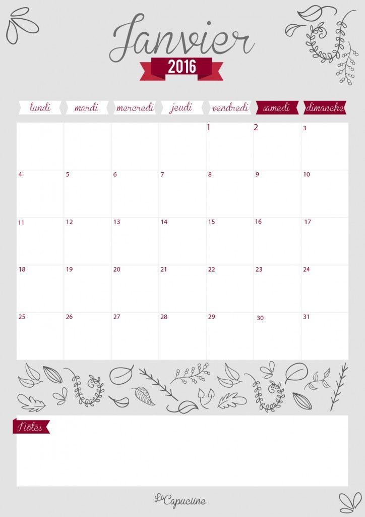 56 best customiser agenda images on pinterest planners notebook calendrier janvier 2016 bullet journaldiycalendarbuild solutioingenieria Image collections