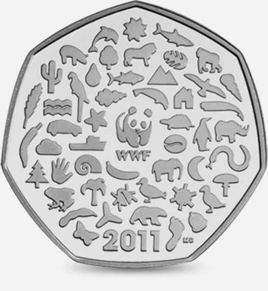 2011 Celebrating 50 years of the work of WWF 50p #CoinHunt http://www.royalmint.com/shop/The_Great_British_Coin_Hunt_50p