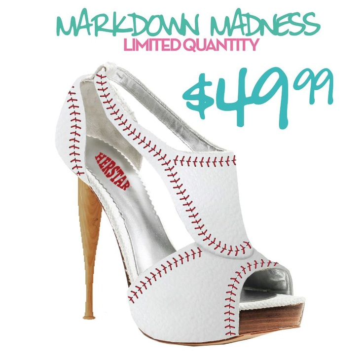 HERSTAR™ Women's Baseball High Heel   http://www.herstar.com/products/herstar-womens-baseball-high-heel  #mlb #baseball #baseballheels