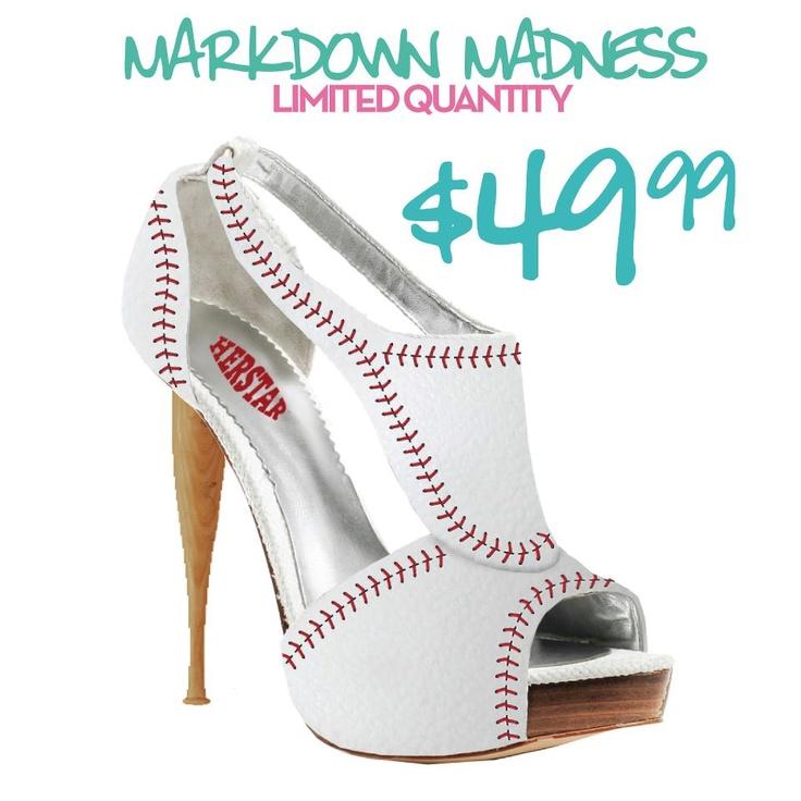 HERSTAR™ Women's Baseball High Heel   http://www.herstar.com/products/herstar-womens-baseball-high-heel  #mlb #baseball #baseballheels