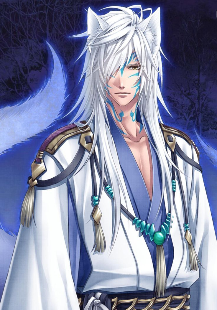 White Wolf Anime And Manga Art Male Man Characters Anime Fox Boy Cute Anime Guys Anime Demon