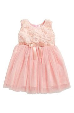 Free shipping and returns on Popatu Empire Waist Rosette Dress (Baby Girls) at Nordstrom.com. Delicate flower petals adorn the sleeveless knit bodice of a princess-inspired dress. A satin bow defines the fit-and-flare silhouette and layers of flouncy tulle add shape to the twirl-worthy skirt.