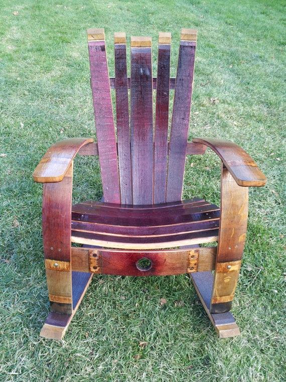 ... reuse repurpose rocking chairs sits forward wine barrel rocker chair