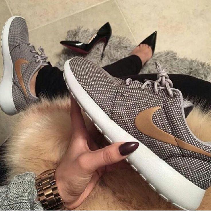 c910dcb00198b ... nikerosherunmeshwhiteblackgoldenshoesmenswomens.jpeg Nike FlyKnit Roshe  Run Sneaker (Women) available at ...