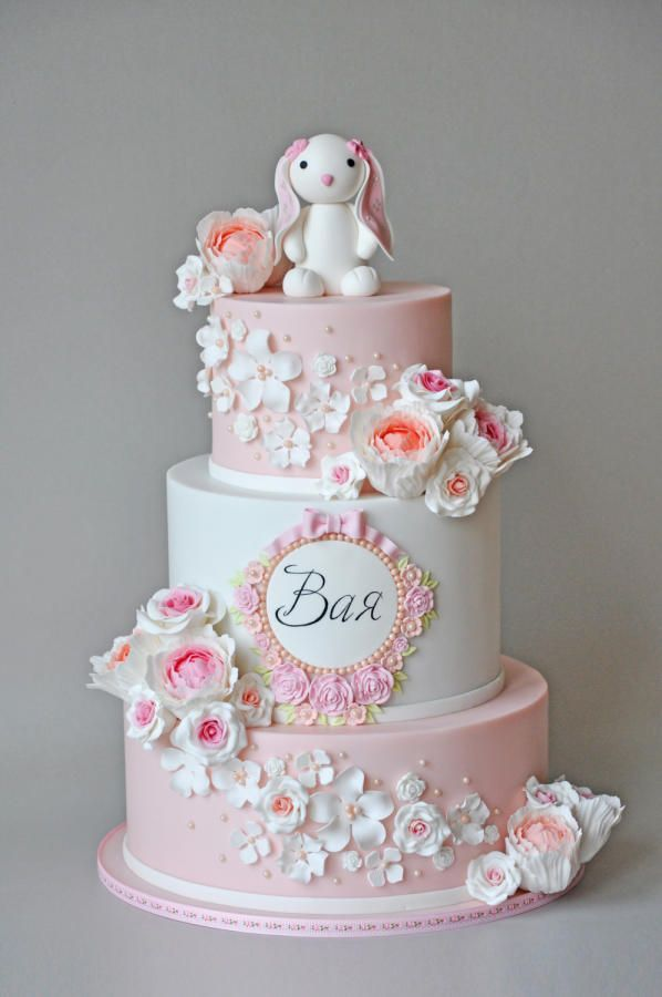 1st Bday / Christening cake by ArchiCAKEture