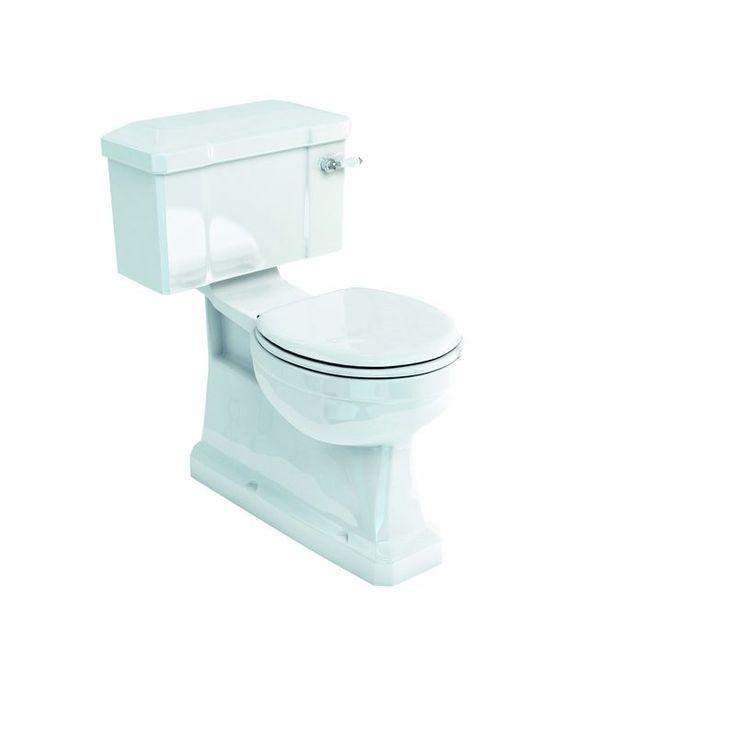 Burlington toalett med dolt avlopp, smal cistern och mjukstängande toalettsits. Välkommen till Sekelskifte och våra vackra toaletter i gammal stil!