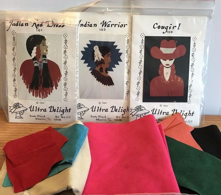 Leather Suede Fabric Indian Warrior Cowgirl Indian Redress Applique Pattern Lot | Collectibles, Cultures & Ethnicities, Native American: US | eBay!