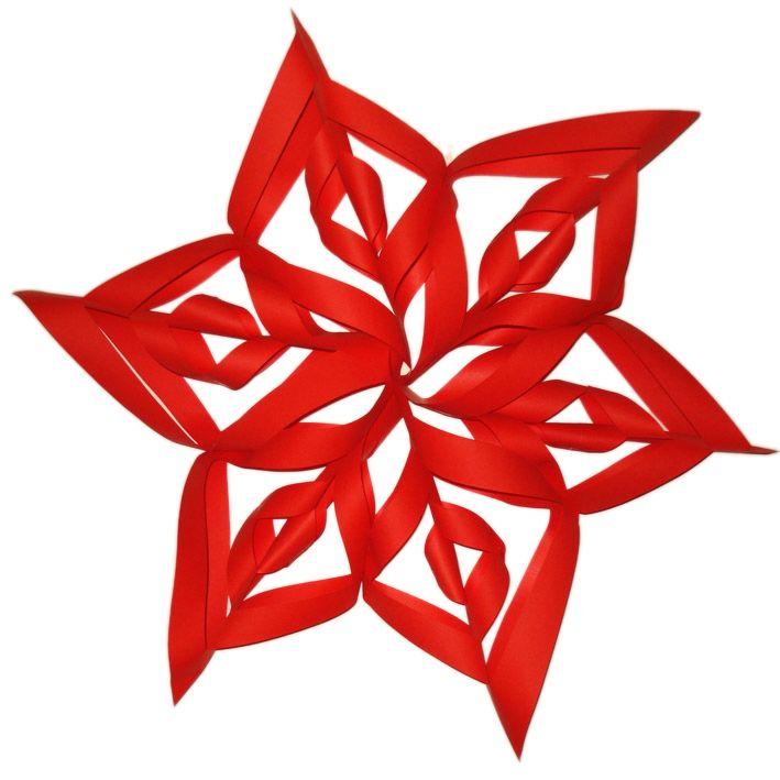 Se volete addobbare una stanza per Natale potete creare con il cartoncino delle stelle di Natale