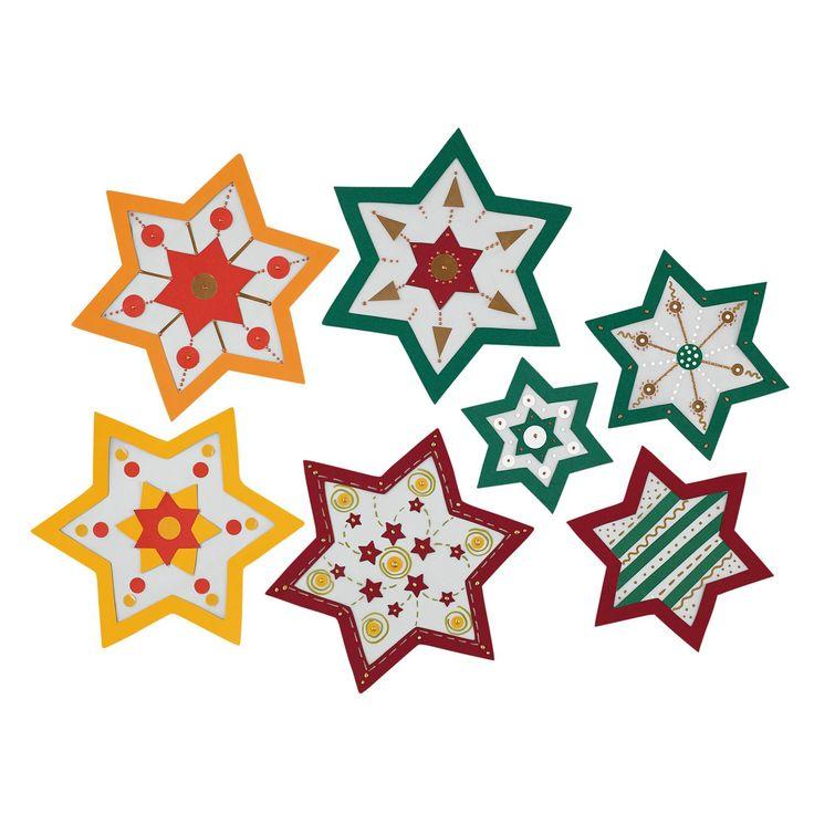 Fenstersterne, Bastelset - Fröhlich-bunte Weihnachtssterne ♥ sorgfältig ausgewählt ♥ Jetzt online bestellen!