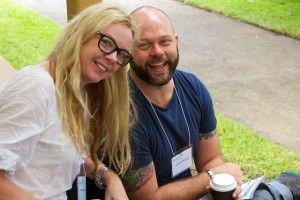 Suzie Miller and Lachlan Philpott at the 2014 Playwriting Festival