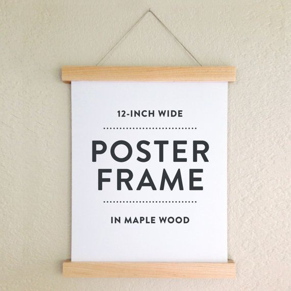 poster frame in maple wood wooden poster hanger by favoritestory art pinterest hanger woods and diy wood - Wood Poster Frames