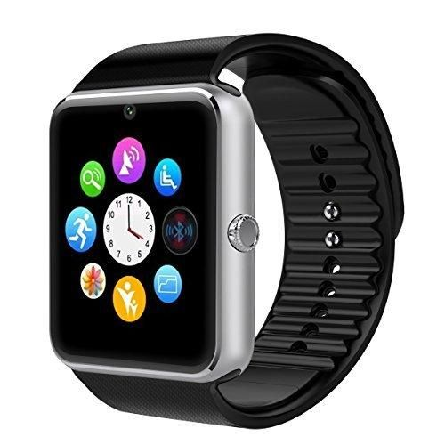 SQDeal Smart Watch Phone Bluetooth Smartwatch - NFC SIM Card Solt for Android Samsung HTC Sony LG and iPhone IOS Smartphones