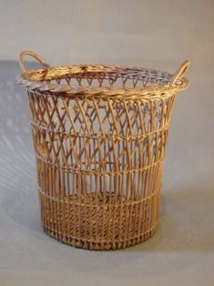 A Very Nice Example of an English Woven Waste Paper Basket, Early 20th C