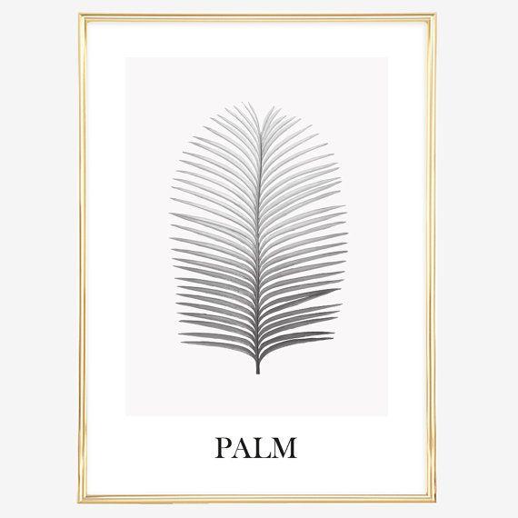 Poster Kunstdruck Digitaldruck Sprücheposter: Palm Leaf