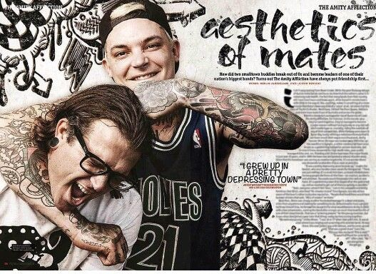 Joel Birch and Ahren Stringer from The Amity Affliction