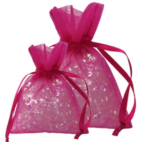 Super fine tylposer i flot pink farve. Perfekte som tilbehør til bryllup og barnedåb.