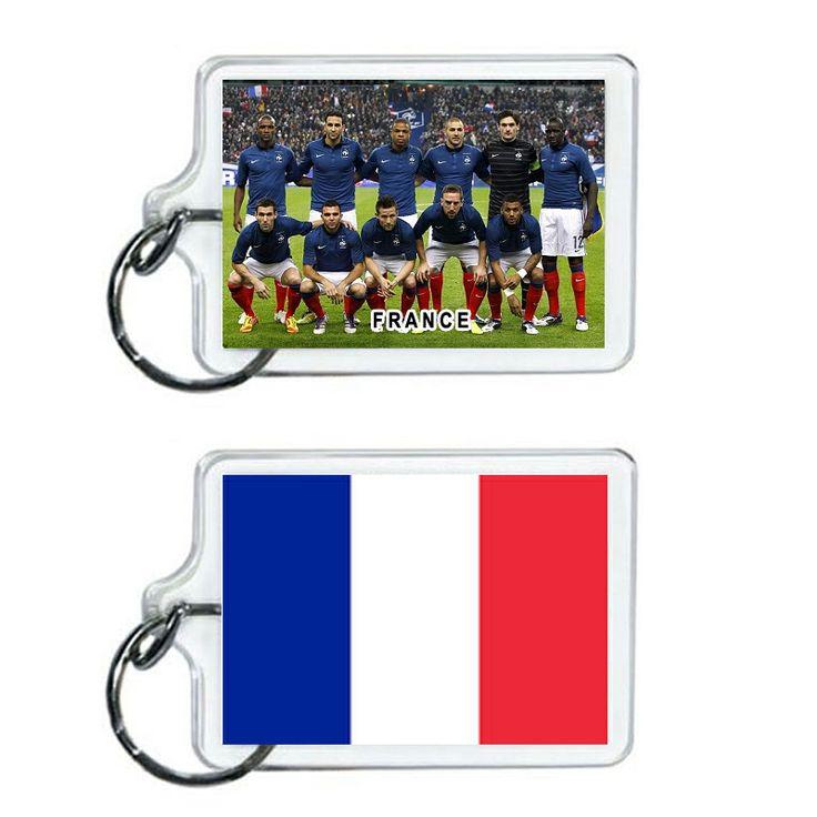 France Soccer Flag 2014 Team Player Acrylic Keychain 2 x 1 | www.balligifts.com