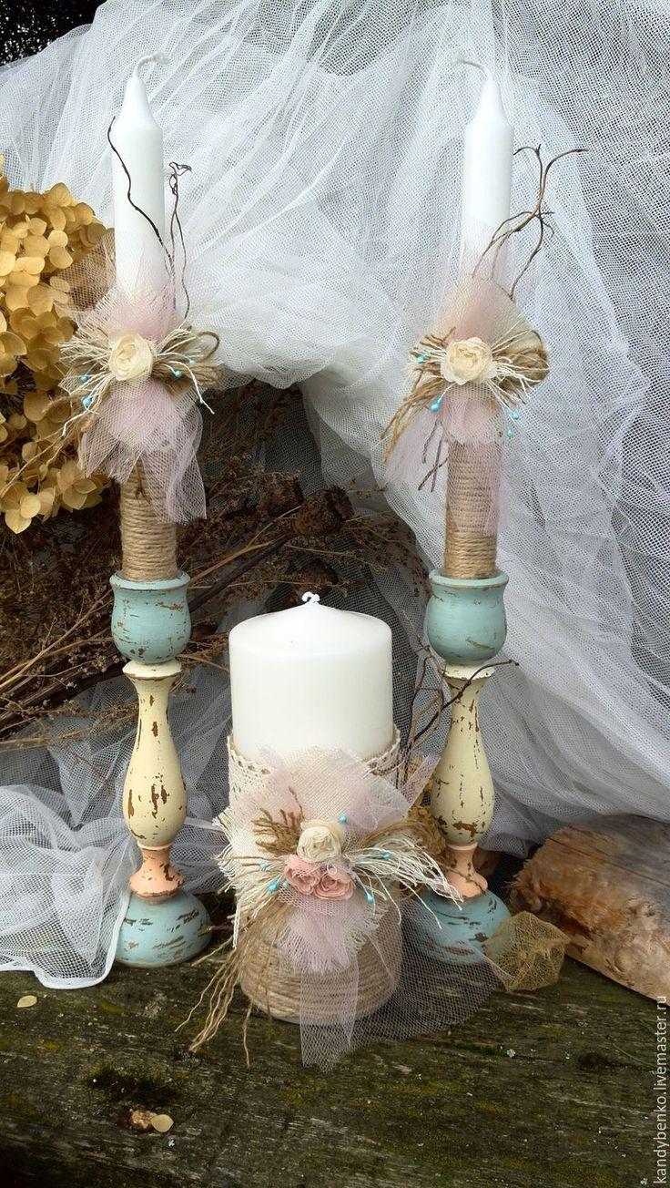 Купить Свадебный набор свечей-Семейный Очаг - комбинированный, свадьба…