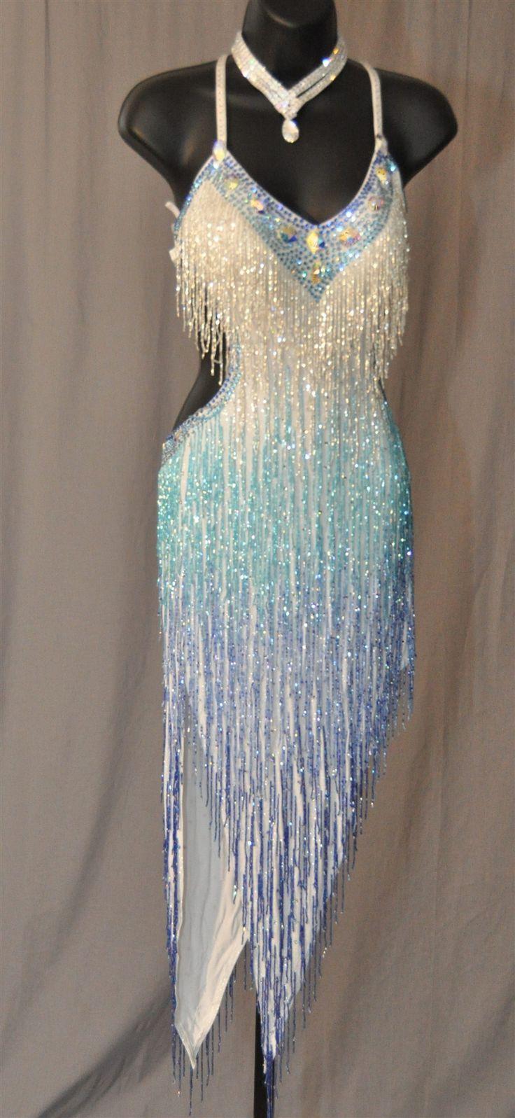 Sexy Hand Made Beads Latin Dress