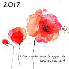 Carte voeux coquelicots. Et si vous offriez un peu de nature pour cette année 2017 ? Découvrez cette jolie carte aquarelle aux accents rouge et rose sur fond blanc made in Popcarte.