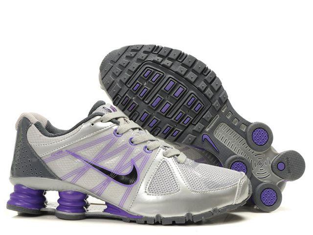 Womens Nike Shox Turbo Gray Purple Shoes,Purple gives a person the sense of  elegance
