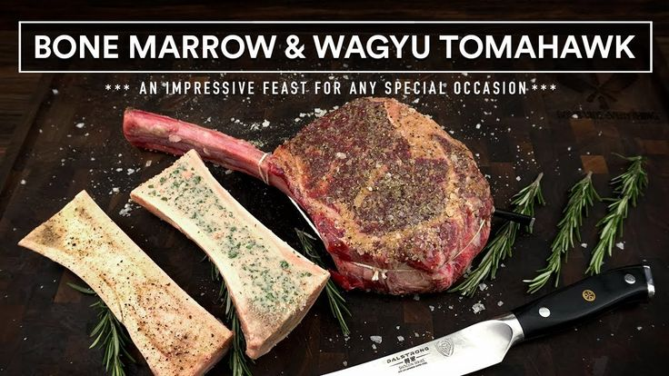 How to cook bone marrow and wagyu tomahawk steak on the